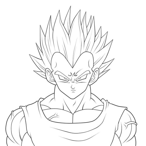 Comment dessiner vegeta sketch pinterest comment - Dessin de vegeta ...