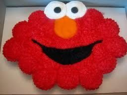 """Elmo Pull apart """"cake"""" made with cupcakes!:"""