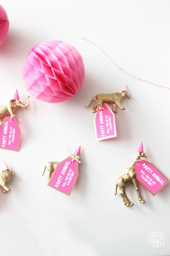 Hey There Party Animal…Will You Be My Valentine? DIY via momsbestnetwork.com