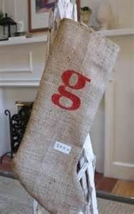 Image detail for -Burlap Christmas stockings by bertie