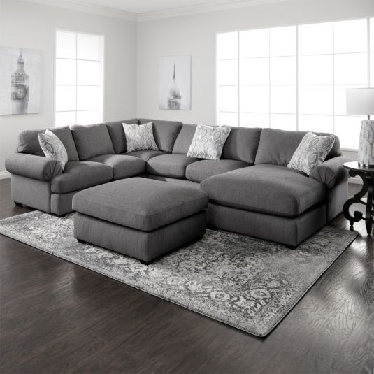 Simple Yet Stylish The Jameson Grey Sectional Is An Excellent