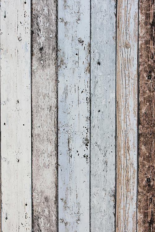 Steigerhout Vliesbehang Blauw/Bruin bij Behangwebshop, bekleding grote kast en evt. andere vlakken.: