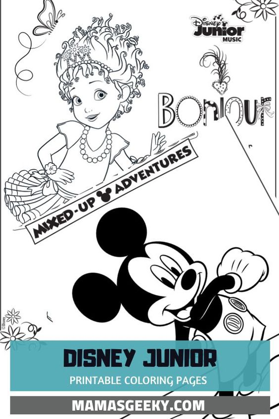 Free Printable Disney Junior Coloring Pages Disney Music Playlists In 2020 Disney Fun Facts Coloring Pages Disney Junior