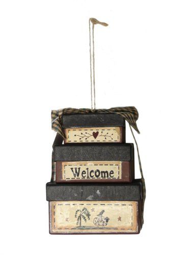 CWI Gifts Welcome Stack Box Ornament
