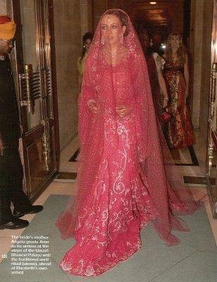 For Her Hindu Wedding Ceremony To Arun Nayar Elizabeth Hurley