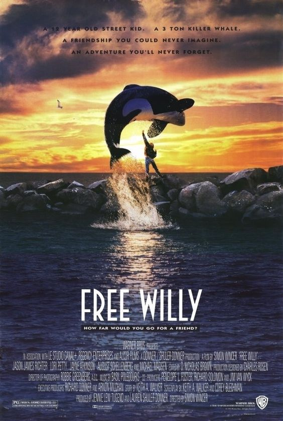Free Willy (1993) starring the Icelandic orca Keiko  #WhalesOfIceland www.whalesoficeland.is