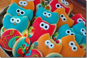 lovely owl cookies