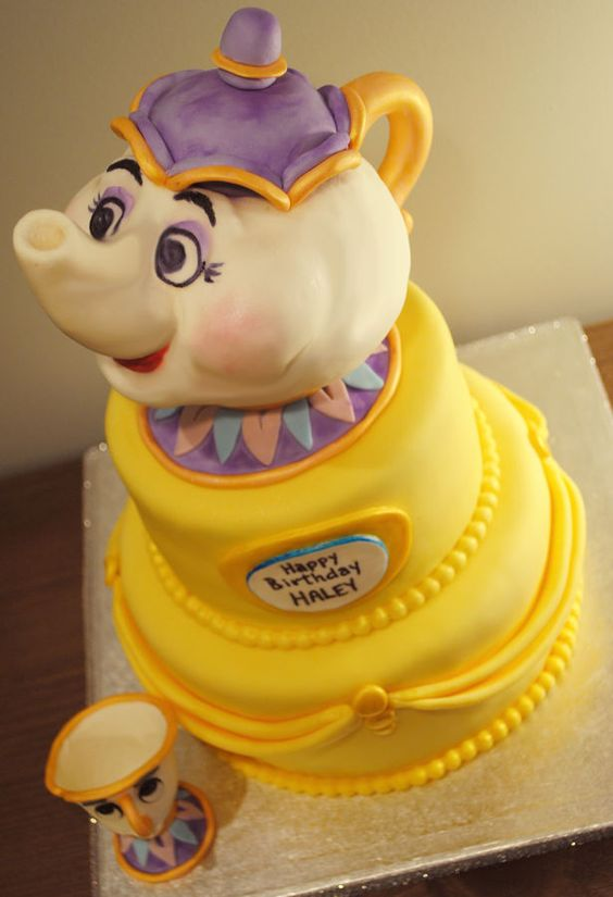 This Beauty and the beast cake is amazing!