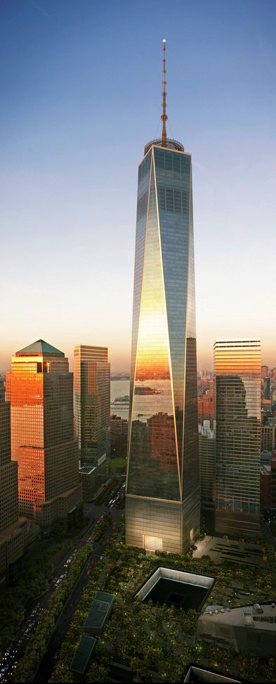 One World Trade Center, New York City, USA #WinterupstateNY