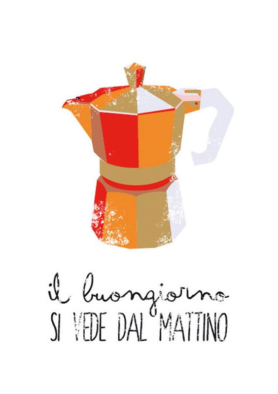 In every kitchen, in every Italian home there's a Moka machine! We love that 'guurgle' sound in the morning and the sweet flavor of coffee. That's why we say 'Il buongiorno si vede dal mattino' in english: 'A good day starts in the morning'