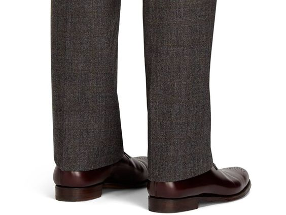 Brooks Brothers: Style Resolutions 2014: Pant length. Although styles can differ, your pants should just graze the top of your shoe.