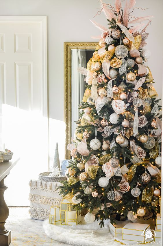 blush-and-gold-christmas-tree-in-office-1-of-1