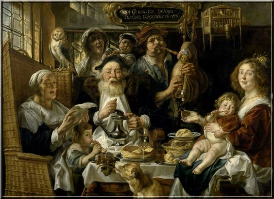 Jacob Jordaens As the old sang so the young pipe