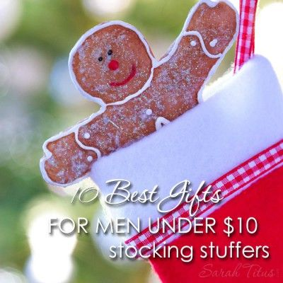 "Is it just me, or are men really hard to buy for? If you said, ""Yes,"" check out these 10 best gifts for men under $10 {stocking stuffers gift guide} that was made just for YOU!"