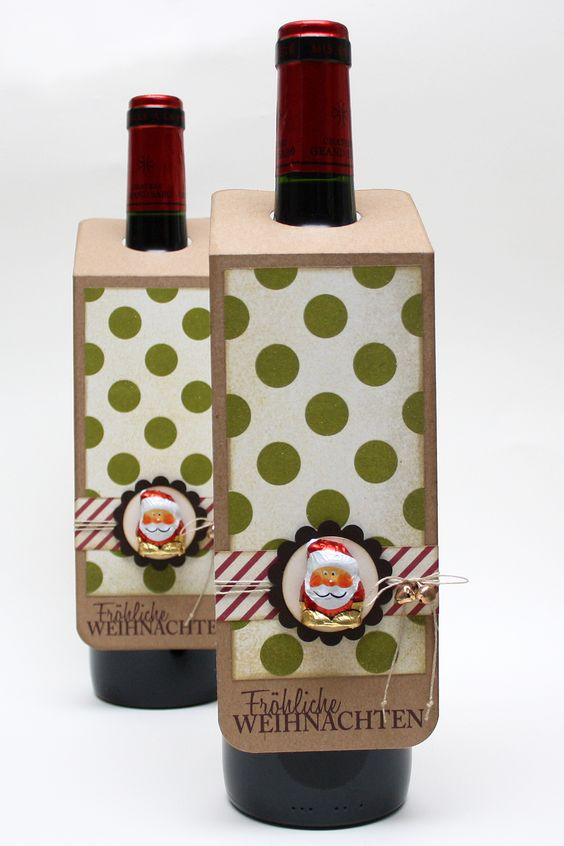 wine bottle hanger weihnachten pinterest wein flasche und tags. Black Bedroom Furniture Sets. Home Design Ideas