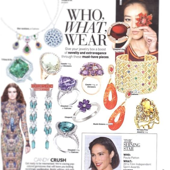 who what wear- check out our jade earrings featured in Umagazine, Lebanon. Jan'14 issue.