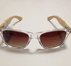 Silvano Apparel Unisex Clear Frame Wooden Sunglasses ($45)