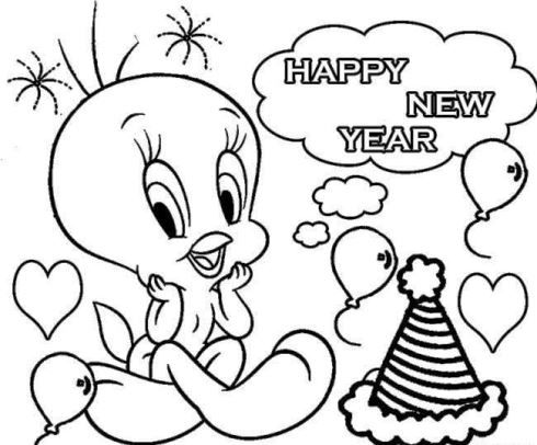 Free Printable New Year Coloring Pages 2021 In 2020 New Year Coloring Pages Cute Coloring Pages Coloring Pages