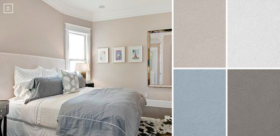 Bedroom color ideas paint schemes and palette mood board for Neutral colour scheme bedroom