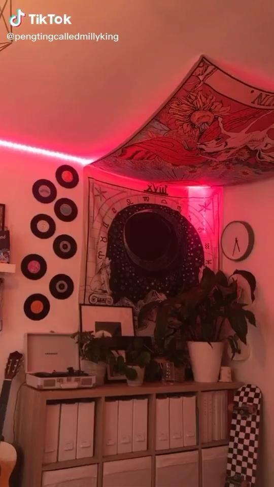 Tiktok Room Aesthetic Neon Room Bedroom Makeover Retro Bedrooms