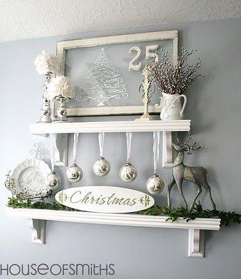 all white Christmas decor!
