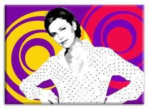 Pop art portrait.  Retrato de arte pop.