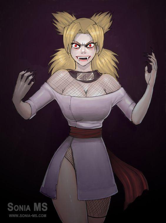 Commission: Temari vampire by SoniaMatas.deviantart.com on @DeviantArt