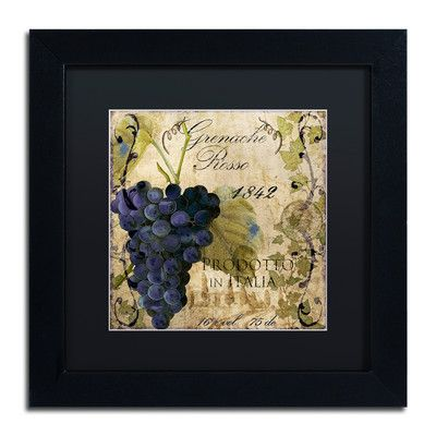 Trademark Art 'Vino Italiano III' by Color Bakery Framed Vintage Advertisement