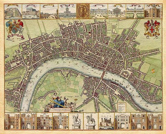 Old Map of London