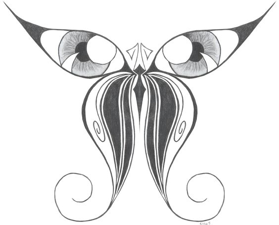 butterfly drawing | butterfly eyes by punski traditional art drawings animals 2005 2013 ...