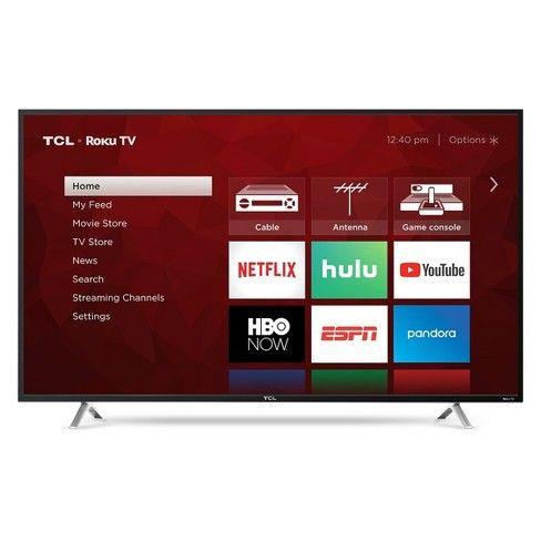 Tcl 55 Class 4 Series 4k Uhd Hdr Smart Roku Tv 55s425 Led Tv Smart Tv Uhd Tv