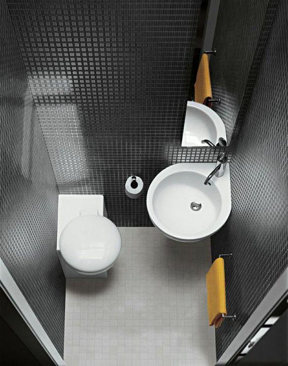 Waschbecken rund gäste wc  waschbecken rund toilette badezimmer fliesen | Badezimmer ...