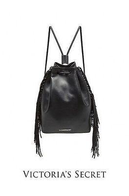 NWT 2016 VICTORIAS SECRET Fashion Show Faux Leather Fringe Black BACKPACK  https://t.co/t3HWSpc1nv https://t.co/bEnGZVeTKH