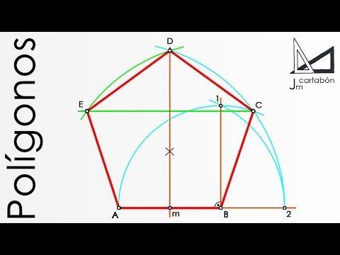Pentágono Regular Dado El Lado Paso A Paso Youtube Dibujos De Geometria Pentagono Técnicas De Dibujo
