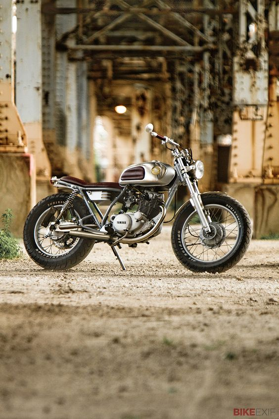Two years ago, Dave Mucci scored a king hit with his Honda CX500 custom—one of our most popular bikes of all time. And now he's back with another build, a lithe Yamaha SR250 with clean lines, thoughtful details and a natural palette. It's Dave's first frame-up design, and every detail, control and finish has been paid due attention. Lovely, isn't it?