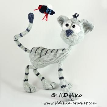 Kit the cat amigurumi pattern by IlDikko   Patrones, Patrones ...