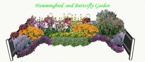 Butterfly And Hummingbird Garden Plans | Hummingbird And Butterfly Garden  Plan PDF | Gardening | Garden