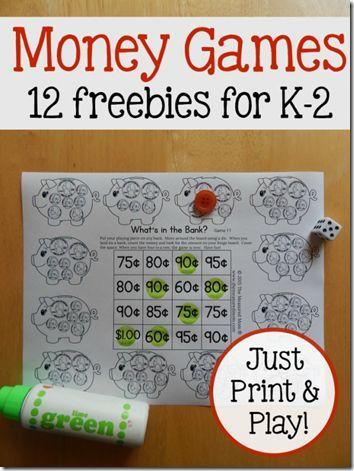 FREE Money Worksheets for Kindergarten, 1st grade, 2nd grade. Super cute, no prep, and FUN! (math)