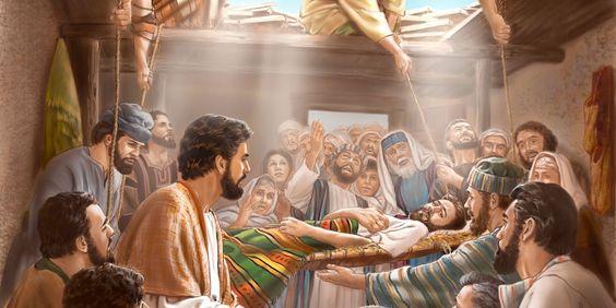 Jézus elé tetőn leeresztett beteg