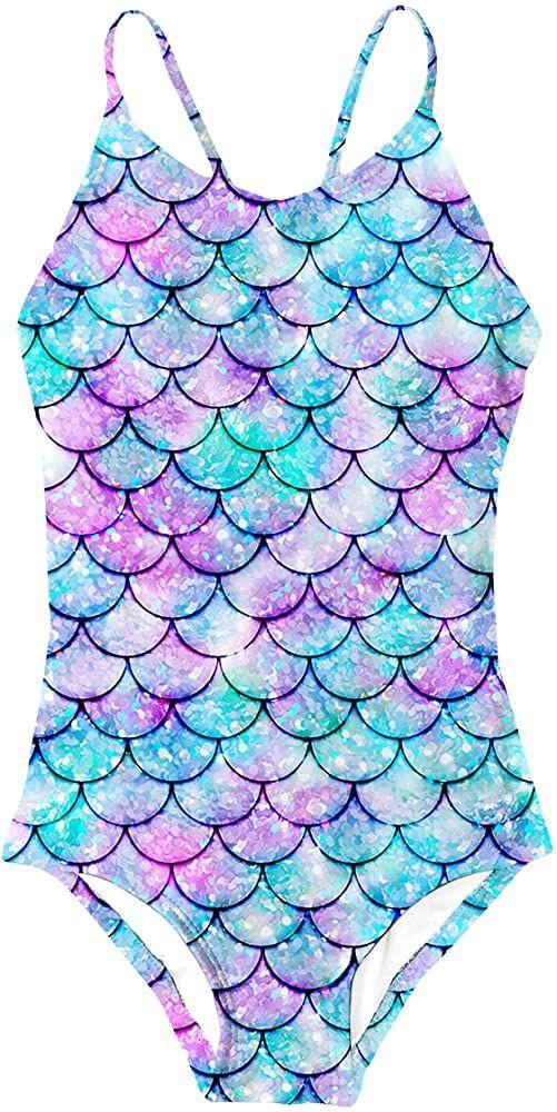 NWT Gymboree Mermaid Print Swimsuit 2 Pc baby girl