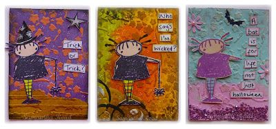 1 Stamp, 3 ATC's, Stampotique Spider Girl main image
