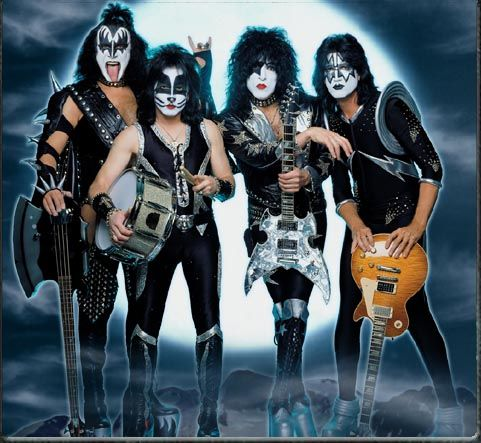 KISS. Never could get into 'em. Detroit Rock City is an awesome flick but the band? Meh.