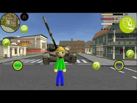 Baldi Stickman Rope Hero Vice Town Open World Crime Simulator Androi Com Games Animal Games Gameplay