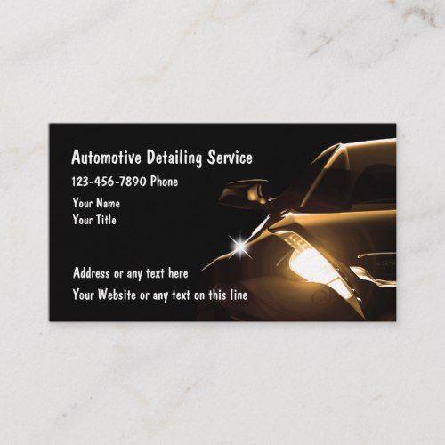 Cool Automotive Detailing Business Cards Zazzle Com Automotive Detailing Car Detailing Business Card Template Design