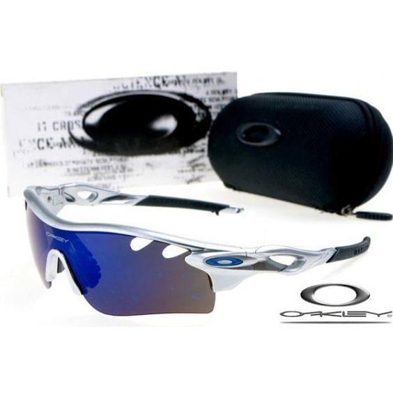 cheap oakley special edition sunglasses  $13 cheap oakley free shipping radarlock path sunglasses silver / blue iridium
