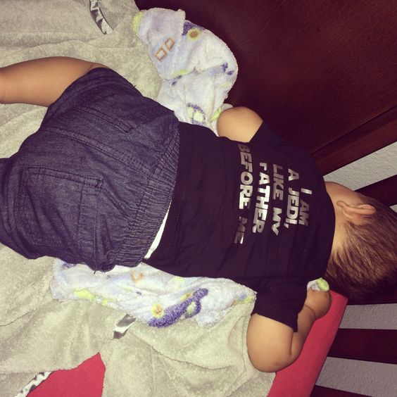 Back of little Bens First Birthday shirt!!  He was all tuckered out that night he slept for 13 hours straight 5 pm to 6 am