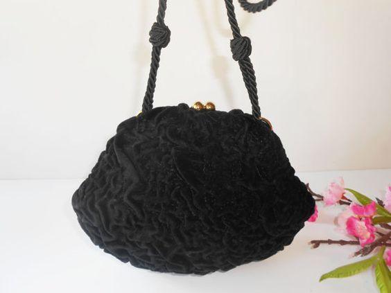 Black Evening Bag Vintage Fendi Handbag by LittleBitsofGlamour, $55.00