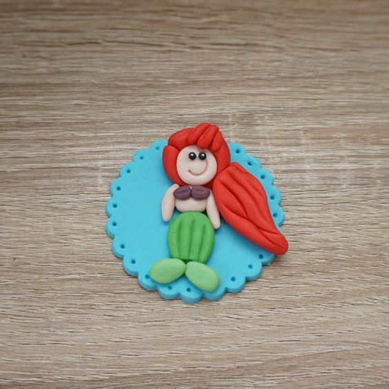 #Fondant #Ariel #Cupcake #Toppers on my #etsyshop perfect for #birthday #parties or #wedding #cake #toppers