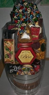 stacked gift baskets - Google Search