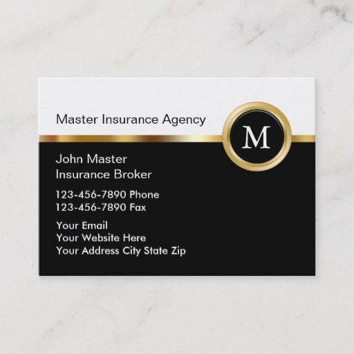 Upscale Insurance Business Cards Zazzle Com Cool Business